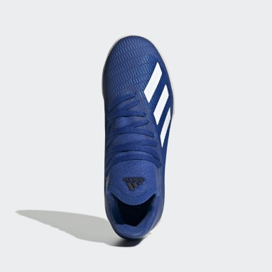 Calzado de Fútbol X 19.3 Cancha Cubierta Azul Niño Fútbol