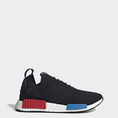 Men Originals Black NMD_R1 Primeknit Shoes