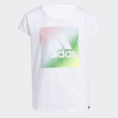 Youth Training White Scoop Neck Tee