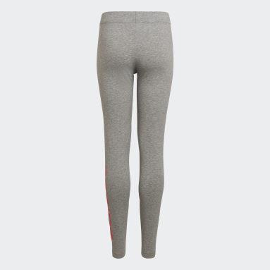 Girls Sportswear Grey Essentials Linear Tights
