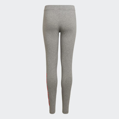 Mallas Essentials Linear Gris Niña Sportswear