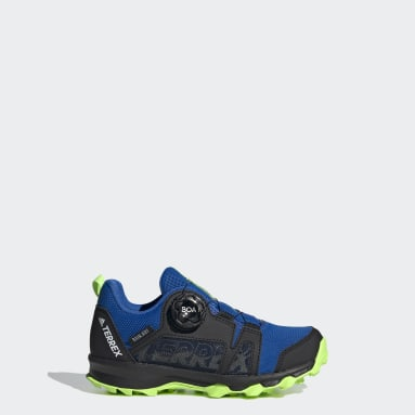 Kids TERREX Blue Terrex Agravic Boa RAIN.RDY Hiking Shoes