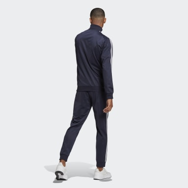 Herr Sportswear Blå Primegreen Essentials 3-Stripes Track Suit