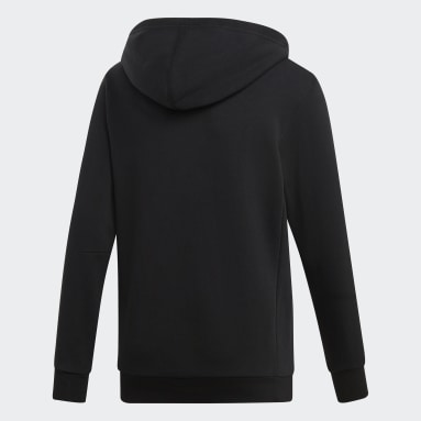 Youth Essentials Black Must Haves Badge of Sport Pullover