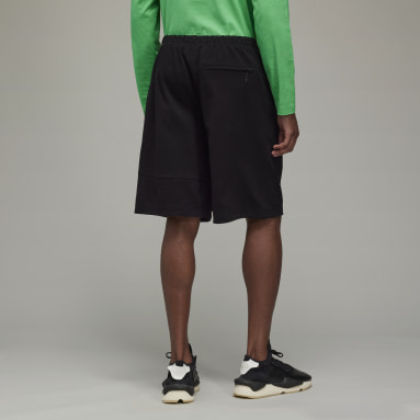 Men Y-3 Black Y-3 Classic Heavy Piqué Shorts