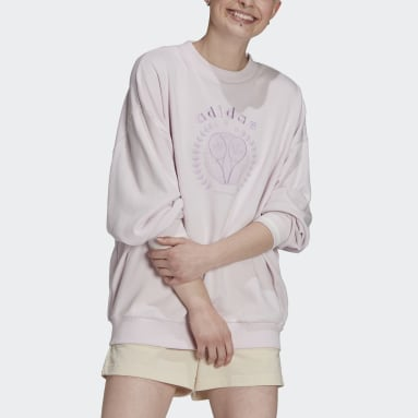 Women's Originals Pink Tennis Luxe Graphic Sweater