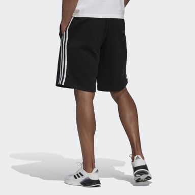 Men's Essentials Black Essentials Fleece 3-Stripes Shorts