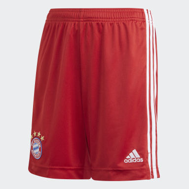 Boys Football Red FC Bayern Home Shorts