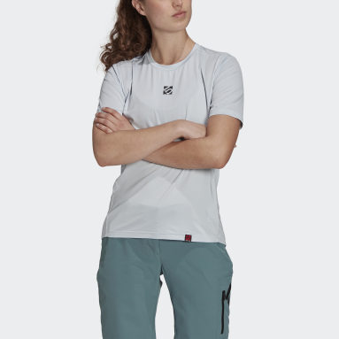 Women Five Ten Blue Five Ten Bike TrailX Tee