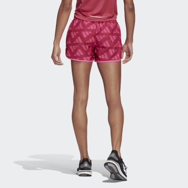 Women Running Pink Marathon 20 Celebration Shorts