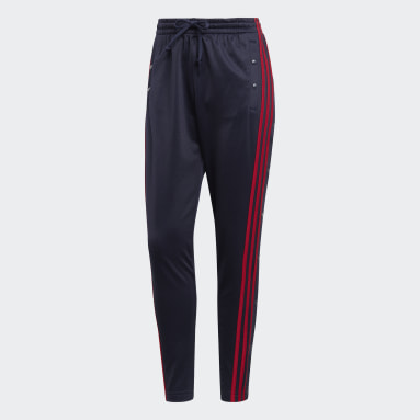 Frauen Sportswear ID 3-Streifen Snap Hose Blau