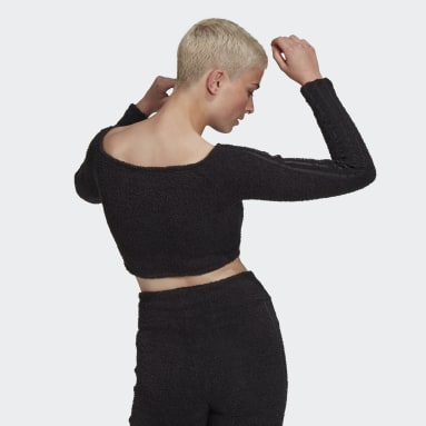 Frauen Originals Crop-Top Schwarz