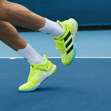 Men's Tennis Yellow Adizero Ubersonic 4 Tennis Shoes