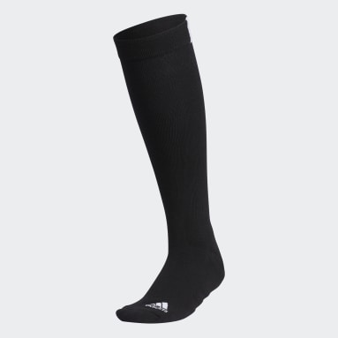 Women Golf Black 3-Stripes Knee Socks