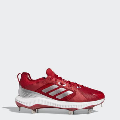 Women's Softball Red PureHustle Cleats