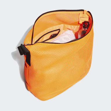 Women Handball Orange Mesh Carryall Tote Bag