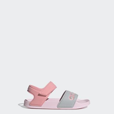 Børn Svømning Pink adilette sandaler