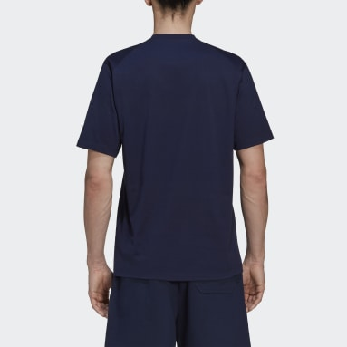 Men Y-3 Blue Y-3 CL Logo T-Shirt
