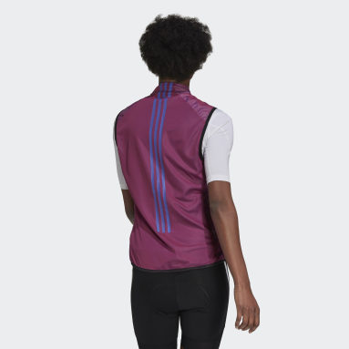 Dames Wielrennen paars The Sleeveless Cycling Bodywarmer