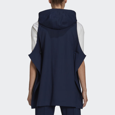 Y-3 Classic Refined Wool Stretch Hooded Vest Blå