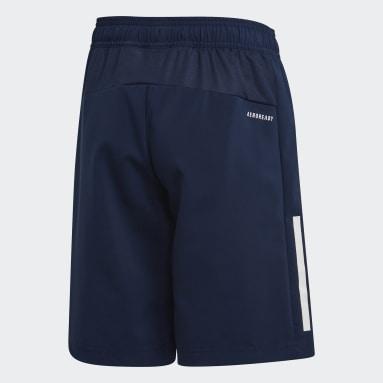 Shorts 3 rayas Azul Niño Training