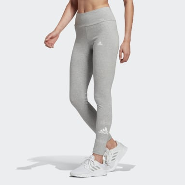 Dames Sportswear Grijs adidas Essentials Stacked Logo High-Rise Legging
