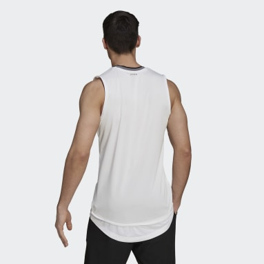 T-shirt  Tennis Primeblue Sleeveless Blanc Hommes Tennis
