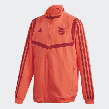 Youth 8-16 Years Football Red FC Bayern Presentation Jacket
