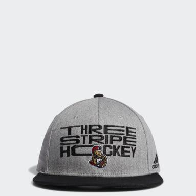 Men Hockey Multi Ottawa Senators Three Stripe Hockey Snapback Cap