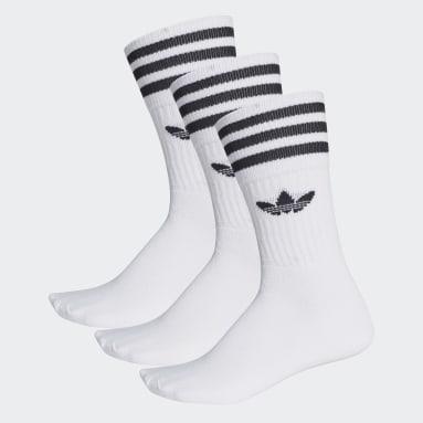 Originals biela Ponožky Crew (3páry)