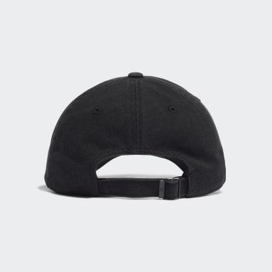เทรนนิง สีดำ หมวกแก๊ปปีกโค้งผ้าฝ้ายปรับได้