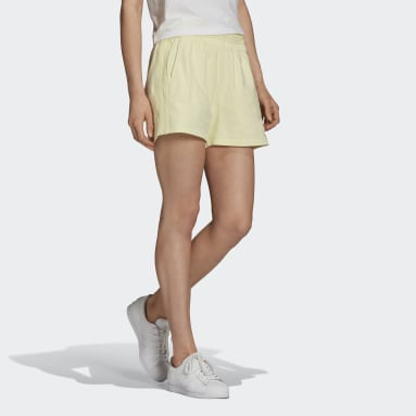 Women's Originals Yellow Tennis Luxe 3-Stripes Shorts