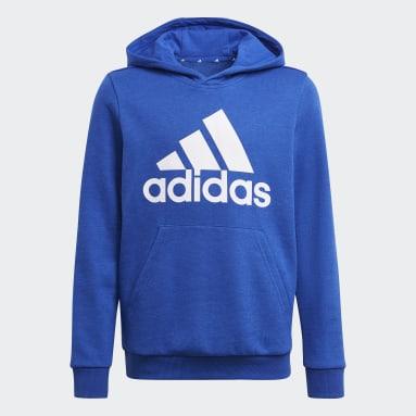 Boys Sport Inspired Blue adidas Essentials Hoodie