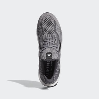 Men Running Grey Ultraboost 5 Uncaged DNA Shoes