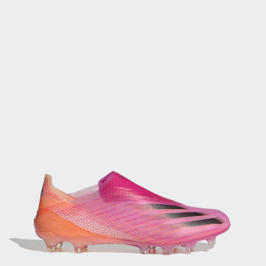 Men Football Pink X Ghosted+ Artificial Grass Boots