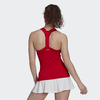 Women's Tennis Red Tennis Y-Tank Top