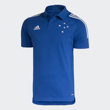 Camisa Polo Treino Cruzeiro Azul Homem Futebol