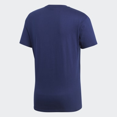Men Gym & Training Blue Core 18 Tee