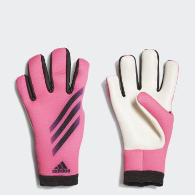 Kinderen Voetbal roze X Training Keepershandschoenen