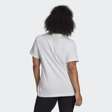Women Sport Inspired White Must Haves Badge of Sport Tee (Plus Size)