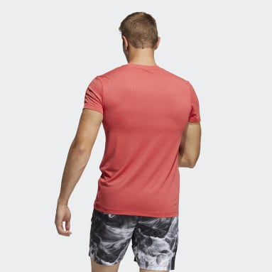 T-shirt HEAT.RDY 3-Stripes Rouge Hommes Fitness Et Training