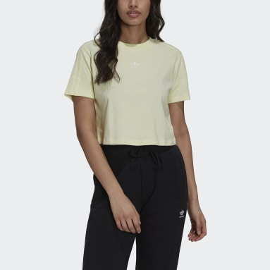 Camiseta Tennis Luxe Cropped Amarillo Mujer Originals