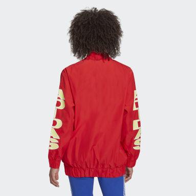 ผู้หญิง Originals สีแดง เสื้อกันลม Collegiate