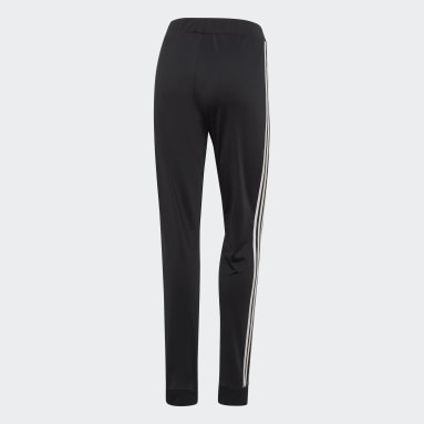 Women Gym & Training Black Dazzle 3-Stripes Joggers