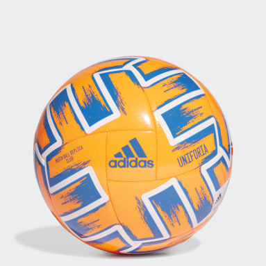 Men Football Orange Uniforia Club Ball