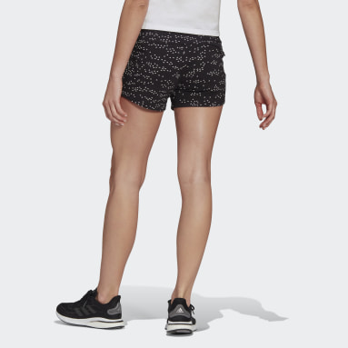 Short adidas Sportswear Badge of Sport Allover-Print Noir Femmes Sportswear