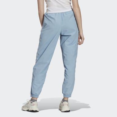 Dames Originals blauw Adicolor Classics Lock-Up Trainingsbroek