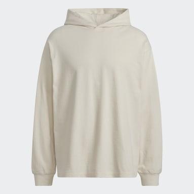 Sweat-shirt à capuche Y-3 CH3 Raw Terry Graphic Floral Beige Hommes Y-3