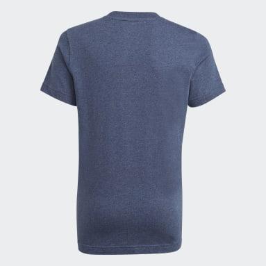 เด็กผู้ชาย Sport Inspired สีน้ำเงิน เสื้อยืด Essentials
