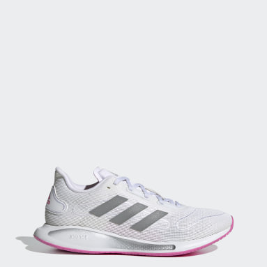 Women Running White Galaxar Run Shoes